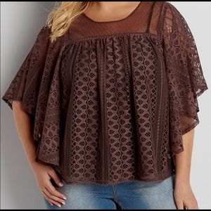 Maurices Boho Poncho Top Size Large
